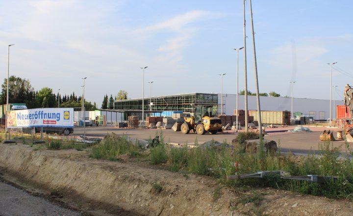 Lidl und Fachmarktzentrum stehen kurz vor der Eröffnung