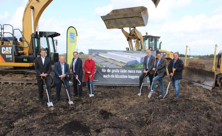 EDEKA Nord Spatenstich: Baubeginn des neuen Frischelagers in Neumünster