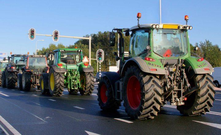 Bundesweiter Protest mit Traktoren