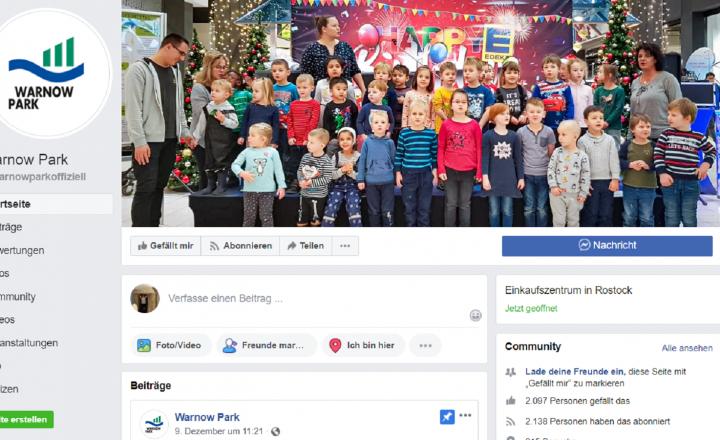 Warnow Park Facebookseite feierte Geburtstag