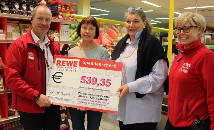 """Pfand für Gutes: REWE Köhler unterstützt """"Kind im Krankenhaus"""""""