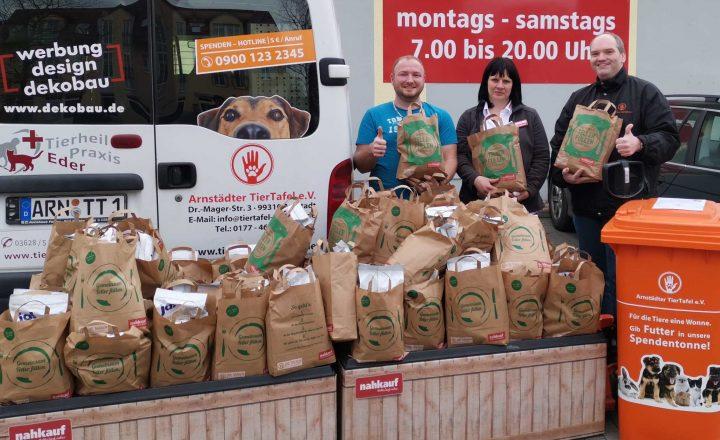 Tierliebe im Einzelhandel – Arnstädter TierTafel ehrt Nahversorger zum Unterstützer des Jahres