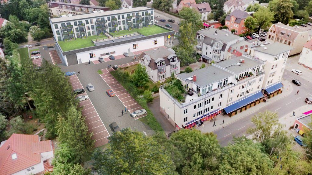 Lidl_Visualisierung-Hönower_Luftbild-Parkplatz