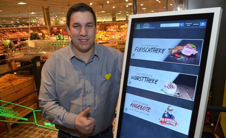 Innovativ: Edeka Pessios installierte Bestellterminal für die Bedientheke