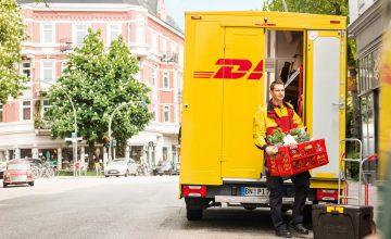 Deutsche Post und DHL liefern Lebensmittel von Rewe