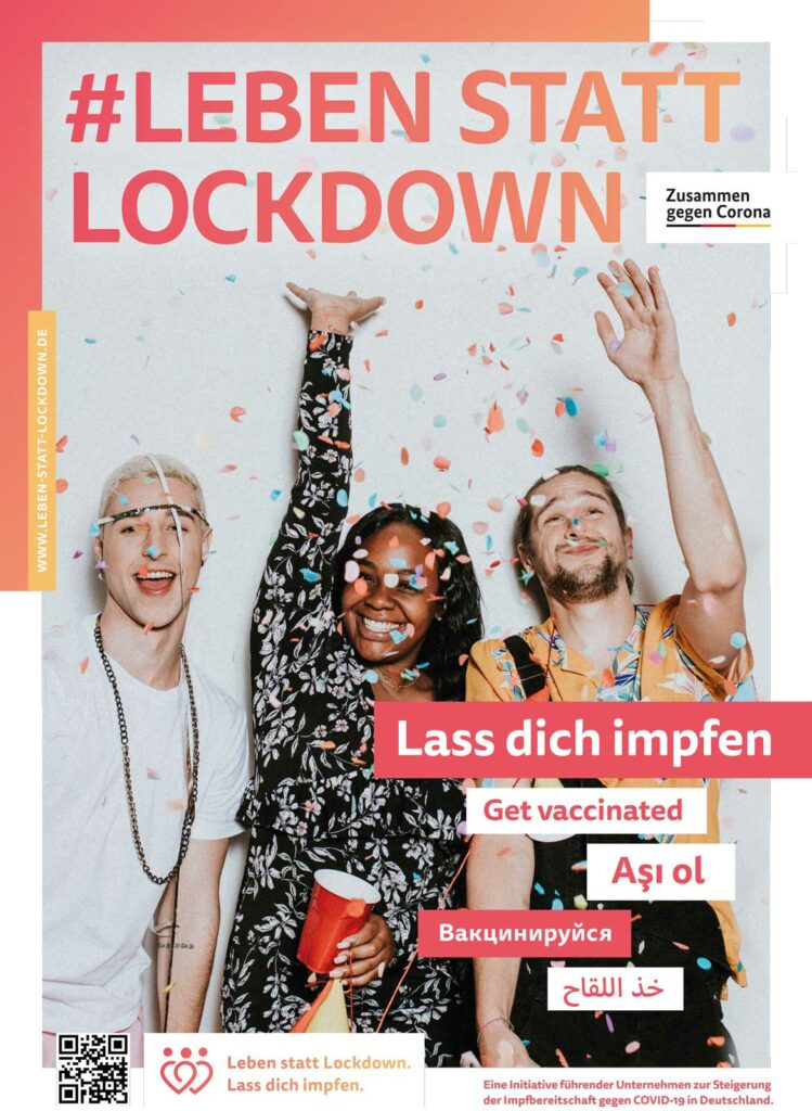 Leben statt Lockdown: Konfetti